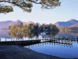 Derwent Water from Keswick, Lake District, Cumbria, England, United Kingdom Fotoprint van Roy Rainford