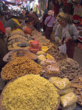Dry Food on Indoor Stalls in Market, Augban, Shan State, Myanmar (Burma) Photographic Print by Eitan Simanor