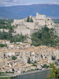 Citadel and Town Overlooking River Durance, Sisteron, Provence, France Photographic Print by John Miller