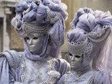 People in Carnival Costume, Venice, Veneto, Italy Fotografisk tryk af Roy Rainford