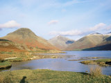 Wastwater with Wasdale Head and Great Gable, Lake District National Park, Cumbria, England Fotografisk tryk af Roy Rainford