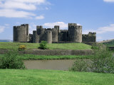 Caerphilly Castle, Mid-Glamorgan, Wales, United Kingdom Photographic Print by Roy Rainford