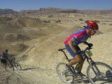 Competitiors in Mount Sodom International Mountain Bike Race, Dead Sea Area, Israel, Middle East Photographic Print by Eitan Simanor