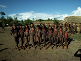 Xingu Dance, Brazil, South America Photographic Print by Claire Leimbach