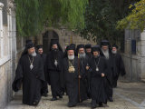 Ceremony for the New Greek Orthodox Patriarch in Jerusalem, Old City, Israel Photographic Print by Eitan Simanor