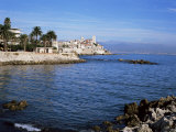 Old Walls and Castle at Antibes, Cote d'Azur, French Riviera, Provence, France Photographic Print by Nigel Francis