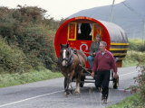Horse-Drawn Gypsy Caravan, Dingle Peninsula, County Kerry, Munster, Eire (Ireland) Photographic Print by Roy Rainford