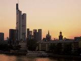 City Skyline at Sunset, Frankfurt Am Main, Germany Photographic Print by Roy Rainford