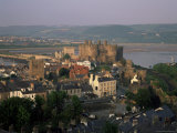 Overview with Castle, Conwy, Gwynedd, Wales, United Kingdom Photographic Print by Roy Rainford