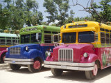 Custom Painted Buses, Mexico Photographic Print by John Miller