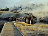 Walkway, Upper Geyser Basin, Yellowstone National Park, Wyoming Photographic Print by Roy Rainford