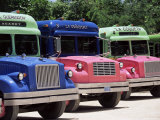 Buses, Mexico, North America Photographic Print by John Miller