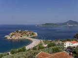 Sveti Stefan and Adriatic Coastline, Montenegro Photographic Print by Graham Lawrence