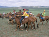 Naadam Festival, Orkhon Valley, Ovorkhangai, Mongolia, Central Asia Photographic Print by Bruno Morandi