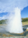 Geyser at Geysir Thermal Area, Near Reykjavik, Iceland, Polar Regions Photographic Print by Simon Harris