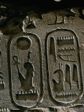 Cartouche of the Pharaoh Seti I, Egypt, North Africa, Africa Photographic Print by John Ross
