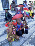People Dressed Ready for the Carnival Procession, Guadeloupe, West Indies, Caribbean Photographic Print by S Friberg