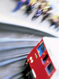 Blurred Motion of Underground Train Leaving Station, London, England, United Kingdom Photographic Print by Simon Harris