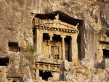 Tomb of Amyhias, Lycian Rock Cut Tomb, Dating from 350 Bc, Near Fethiye, Anatolia, Turkey Photographic Print by Michael Short