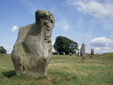 Standing Stones in Prehistoric Stone Circle, UNESCO World Heritage Site, Wiltshire, England Photographic Print by Michael Short