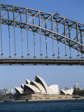 Sydney Opera House and Harbour Bridge, Sydney, New South Wales (N.S.W.), Australia Photographic Print by Fraser Hall
