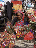 Woman in Market, Mapusa, Goa, India Photographic Print by Michael Short