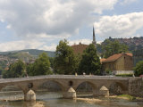 Latin Bridge (Latinska Cuprija), Across the River Miljacka, Sarajevo, Bosnia, Bosnia-Herzegovina Photographic Print by Graham Lawrence