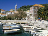 The Tiny Inner Harbour, Hvar Town, Croatia Photographic Print by Michael Short