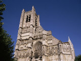 Cathedral of St. Stephen, Auxerre, Burgundy, France Photographic Print by Michael Short