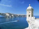 Valletta Viewed Over the Grand Harbour, Malta, Mediterranean Photographic Print by Simon Harris
