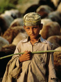 Portrait of a Young Shepherd Boy, Northern Territory, Pakistan Photographic Print by S Friberg