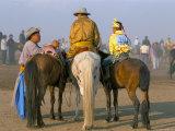 Horse Riders Before Race, Naadam Festival, Oulaan Bator (Ulaan Baatar), Mongolia, Central Asia Photographic Print by Bruno Morandi