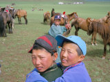 Naadam Horse Race, Ovorkhangai Province, Mongolia, Central Asia Photographic Print by Bruno Morandi