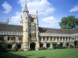 Founders Tower from Cloister Quadrangle, Magdalen College, Oxford, Oxfordshire, England Photographic Print by David Hunter