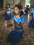 Apsara Dance, Khmer Dance School, Phnom Penh, Cambodia, Indochina, Southeast Asia Photographic Print by Bruno Morandi