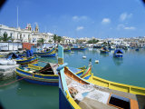 Fishing Harbour, Marsaxlokk, Malta, Mediterranean Photographic Print by Simon Harris
