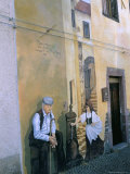 Murals in the Village of Tinura, Bosa Region, Island of Sardinia, Italy, Mediterranean Photographic Print by Bruno Morandi