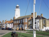 Lighthouse from St. James Green, with Cannon, Southwold, Suffolk, England, United Kingdom Photographic Print by David Hunter