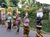 Women in Procession for Funeral Ceremony, Island of Bali, Indonesia, Southeast Asia Photographic Print by Bruno Morandi