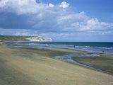 Beach View to Culver Cliff, Sandown, Isle of Wight, England, United Kingdom Photographie par David Hunter