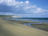 Beach View to Culver Cliff, Sandown, Isle of Wight, England, United Kingdom Photographic Print by David Hunter