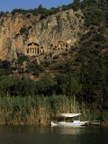 Lycian Rock Tombs, Carian, Dalyan, Mugla Province, Anatolia, Turkey, Eurasia Photographic Print by Jane O'callaghan