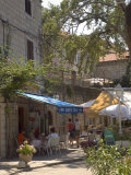Pavement Cafe, Cavtat, Dalmatia, Croatia Photographic Print by Graham Lawrence