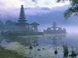 Pura Ulun Temple, Danu Bratan, Island of Bali, Indonesia, Southeast Asia Photographic Print by Bruno Morandi