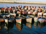 Fishing Harbour, El Jadida, Atlantic Coast, Morocco, North Africa, Africa Fotografisk tryk af Bruno Morandi