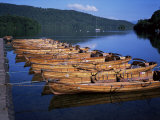 Rowing Boats on Lake, Bowness-On-Windermere, Lake District, Cumbria, England, United Kingdom Photographic Print by David Hunter