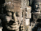 Bayon Temple, Angkor, Unesco World Heritage Site, Siem Reap, Cambodia, Indochina Photographic Print by Bruno Morandi