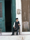 Old Man in Traditional Costume, Crete, Greece Photographic Print by Michael Short