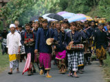 Procession, Mount Batur, Island of Bali, Indonesia, Southeast Asia Photographic Print by Bruno Morandi
