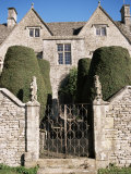 Cotswold House, Topiary and Gate, Ablington, Gloucestershire, the Cotswolds, England Photographic Print by David Hunter